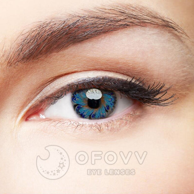 Ofovv® Eye Circle Lens Lolly Blue Colored Contact Lenses V6155(1 YEAR)
