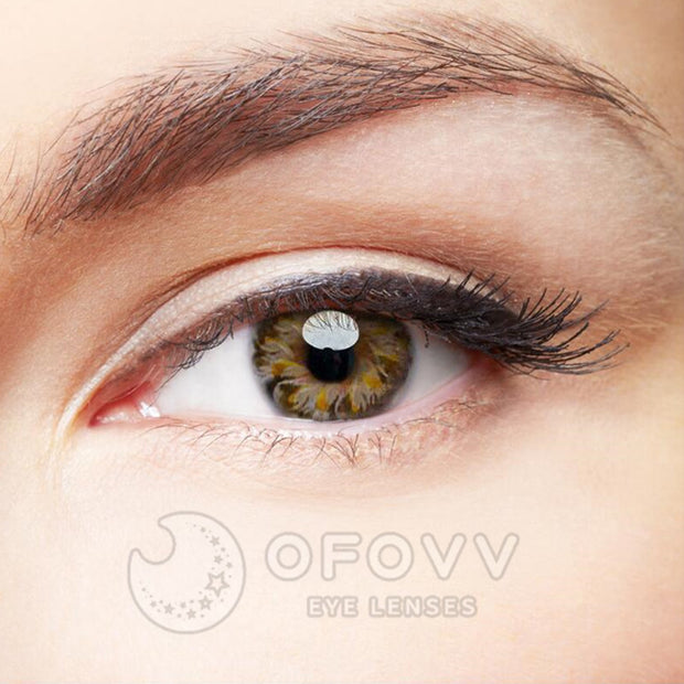 Ofovv® Eye Circle Lens Lolly Brown Colored Contact Lenses V6157(1 YEAR)