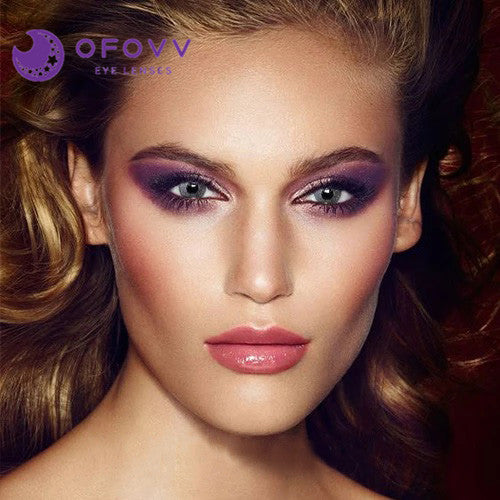 Ofovv® Eye Circle Lens Macadam Grey Colored Contact Lenses V6164(1 YEAR)