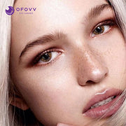 Ofovv® Eye Circle Lens Fireworks Brown Colored Contact Lenses V6166(1 YEAR)
