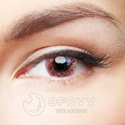 Ofovv® Eye Circle Lens Fireworks Pink Colored Contact Lenses V6167(1 YEAR)