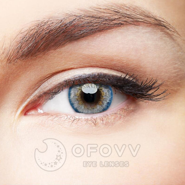 Ofovv® Eye Circle Lens Pony Grey-Blue Colored Contact Lenses V6168(1 YEAR)