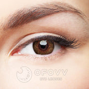 Ofovv® Eye Circle Lens Glow Brown Colored Contact Lenses V6178(1 YEAR)