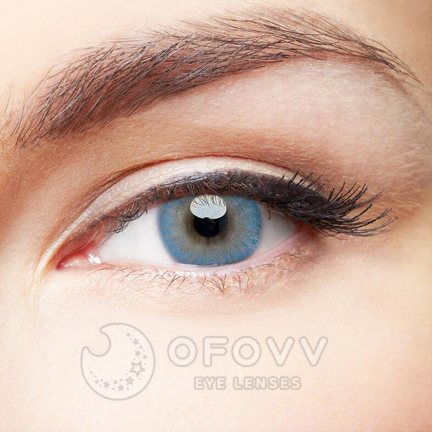 Ofovv® Eye Circle Lens Donut Blue Colored Contact Lenses V6205(1 YEAR)
