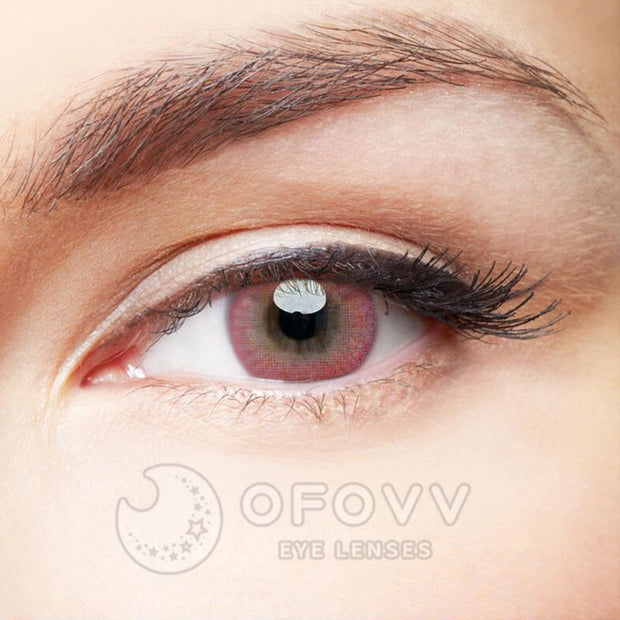 Ofovv® Eye Circle Lens Donut Pink Colored Contact Lenses V6206(1 YEAR)
