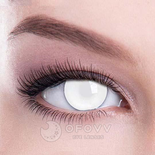 Ofovv® Eye Circle Lens Blind White Special Effect Colored Contact Lenses V6208(1 YEAR)