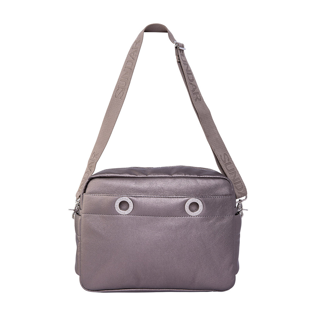Bolsa Crossbody Mediana Estaño