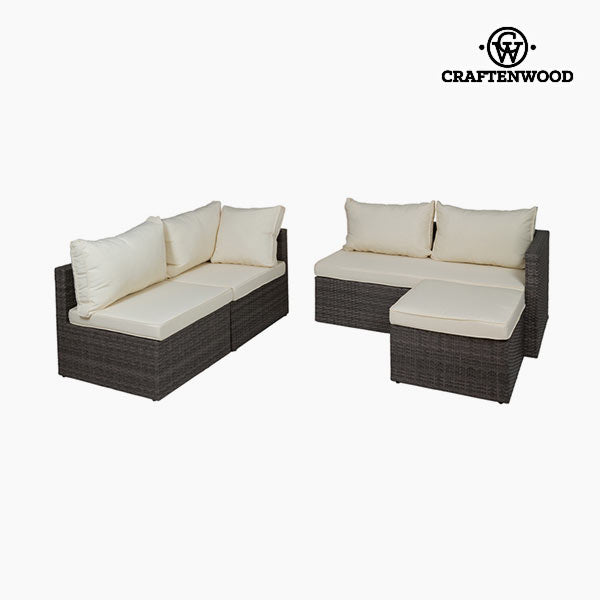 Sofa og pufsæt (2 pcs) by Craftenwood