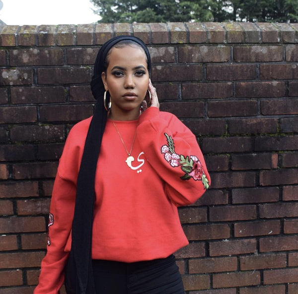 Red Embroidery Jumper - Al-Huda Clothing