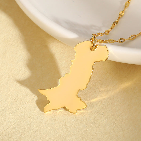 Pakistan map necklace