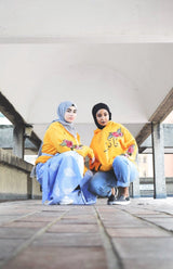 Mellow Sunset Embroidery Hoodie - Al-Huda Clothing