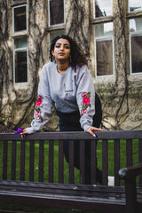 Sports Grey Embroidery Jumper - Al-Huda Clothing