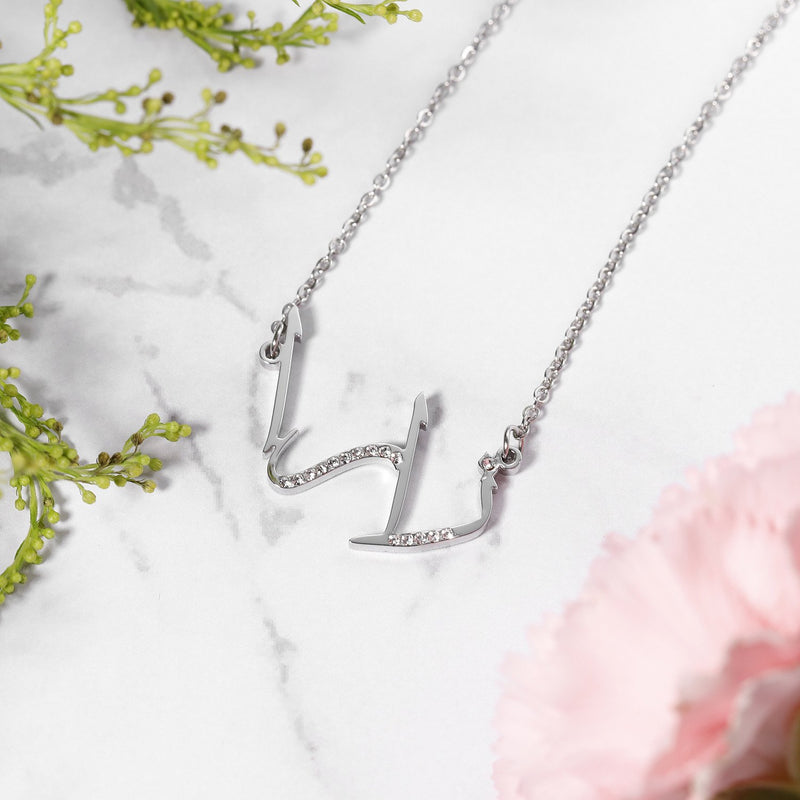 Calligraphy Crystal Arabic Custom Necklace - Al-Huda Clothing