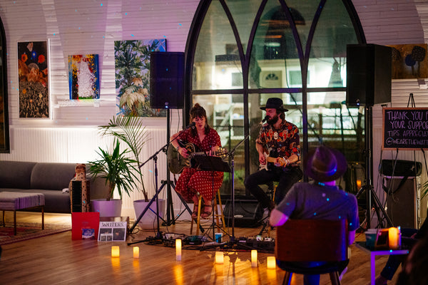 Art + Music Night at The Cathedral; socially-distanced lived music