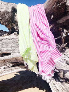 Rio Fiesta Basic Turkish Towel - Magenta Pink