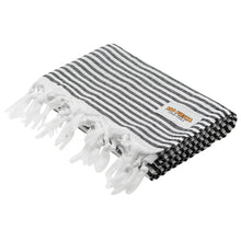 Load image into Gallery viewer, Turkish Towel Black Rio Fiesta Australia