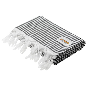 Turkish Towel Black Rio Fiesta Australia