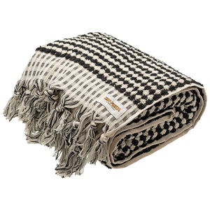 Rio Fiesta Luxe Turkish Towel Black/White Australia