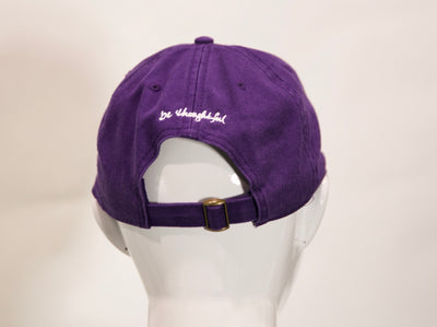 Neugroove ballcap, adjustible fit - be thoughtful