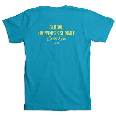 Global Happiness Summit 2020 Limited Offer Tshirt (Back)