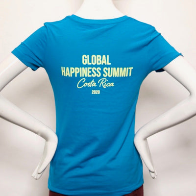 Global Happiness Summit 2020 Limited Offer Tshirt - Ladies (Back)