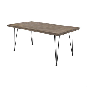 Bo Large Elmwood Dining Table with Hairpin Legs