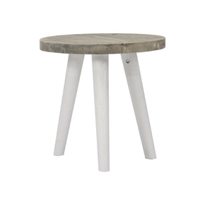 Elsa Small Round Wood Side Table