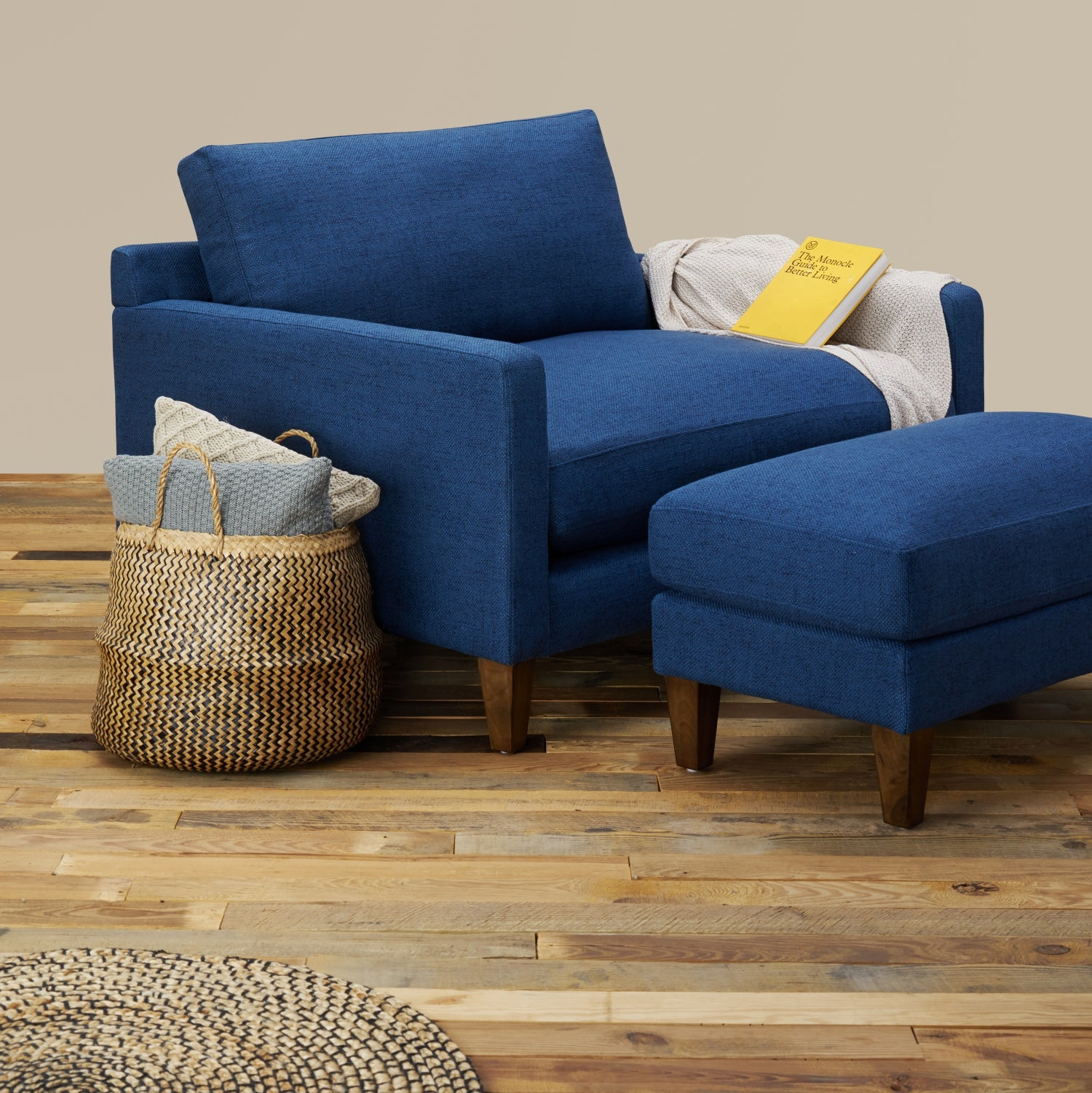 Excellent Romo Oversized Lounge Chair With Ottoman Gmtry Best Dining Table And Chair Ideas Images Gmtryco