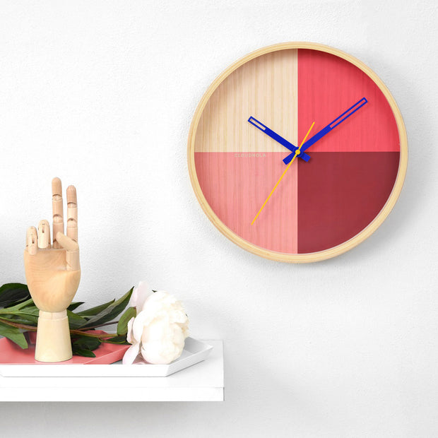Flor Red Wall Clock 1