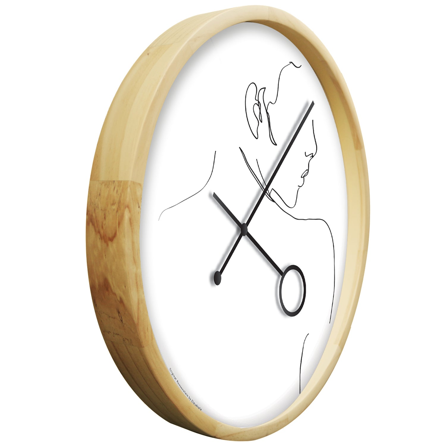 Line Art Flirt Wall Clock - EUROPE Exclusive