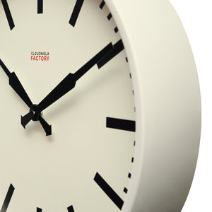 Factory Ivory Station Clock