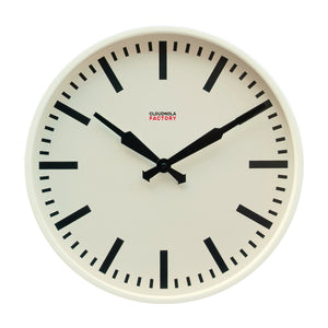 Factory Ivory Station Clock 45cm / 18 in