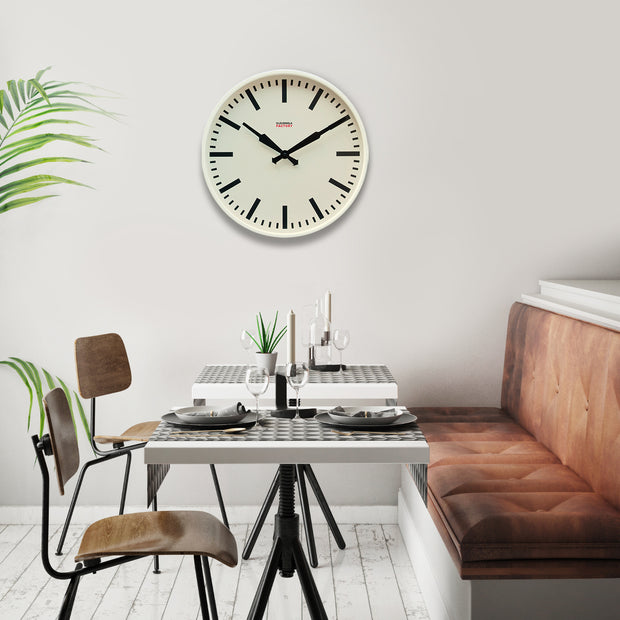 Factory Ivory Station Clock 45cm / 18 in 1