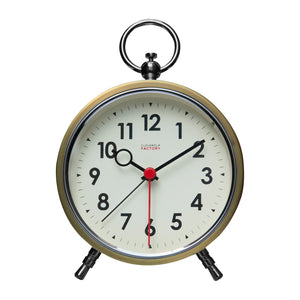 Factory Brushed Gold Numbers Alarm Clock