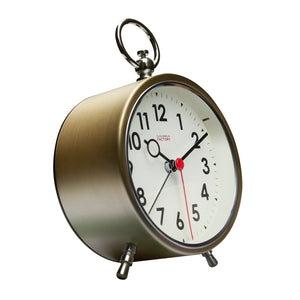 Factory Brushed Gold Alarm Clock