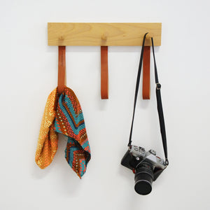 Hook Me Up 3 Wood Coat Rack 30 cm / 15.8 in