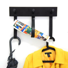 Load image into Gallery viewer, Hook Me Up 3 Black Coat Rack 30cm / 15.8  in