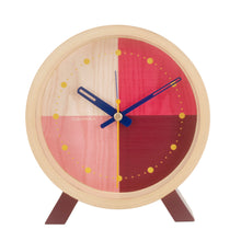 Load image into Gallery viewer, Flor Red Desk Clock