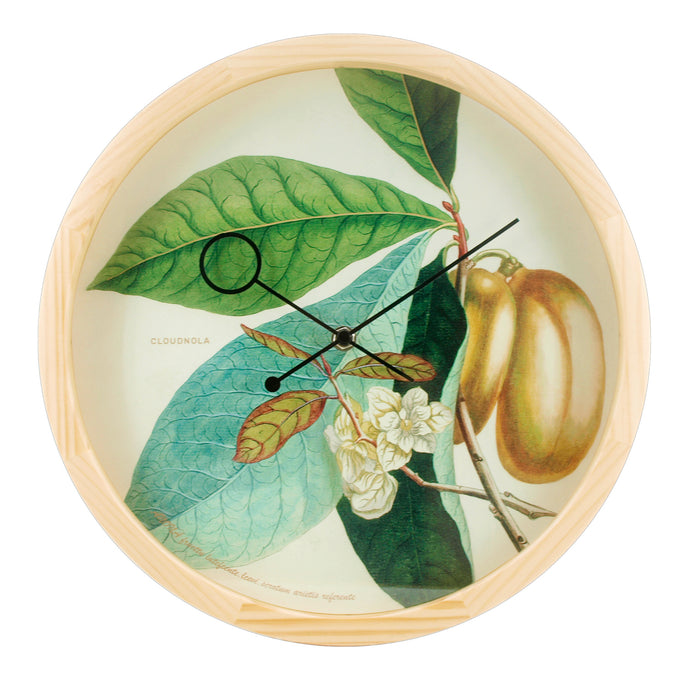 Botanical Anona Plant Wall Clock - ONLY AVAILABLE FOR EUROPE