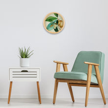 Load image into Gallery viewer, Botanical Anona Plant Wall Clock