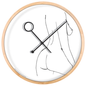 Line Art Prance Wall Clock - ONLY AVAILABLE FOR EUROPE