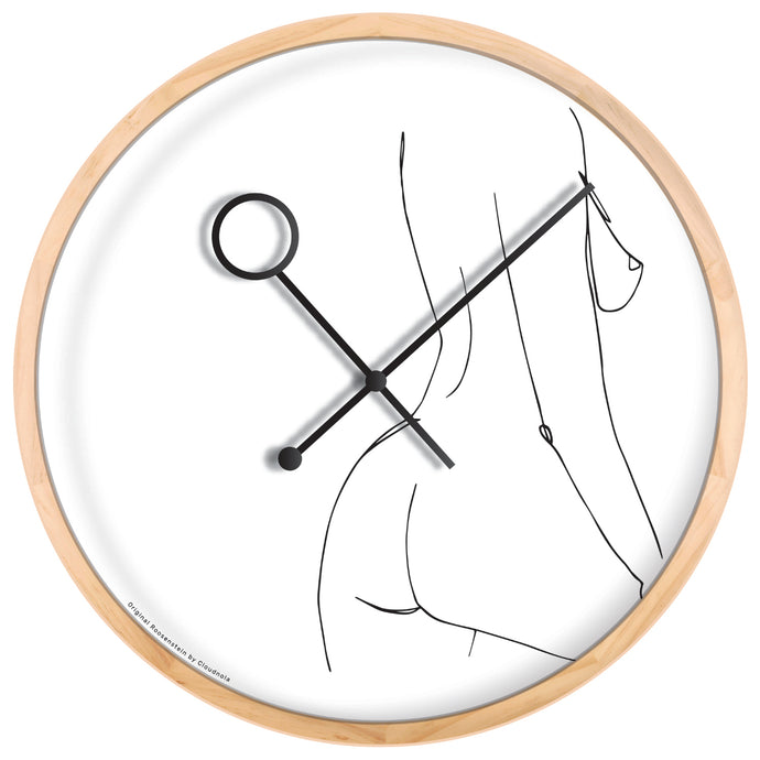 Line Art Prance Wall Clock