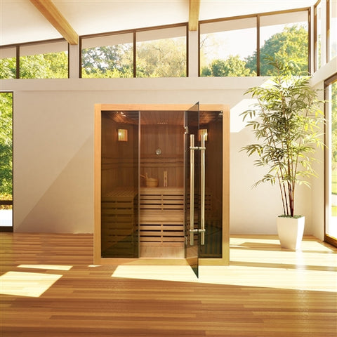 Image of Canadian Hemlock Indoor Wet Dry Sauna - 4.5 kW ETL Certified Heater - 4 Person (larger) - Jet Springs