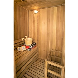 Canadian Cedar Indoor Wet Dry Sauna Steam Room - 3 kW ETL Certified Heater - 2 Person - Jet Springs