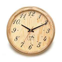 Handcrafted Analog Clock in Finnish Pine Wood - Jet Springs