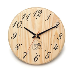 Handcrafted Sleek Analog Clock in Finnish Pine Wood - Jet Springs
