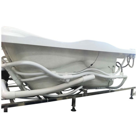 Image of EAGO AM124ETL-R 6 ft Right Corner Acrylic White Whirlpool Bathtub for Two - Jet Springs