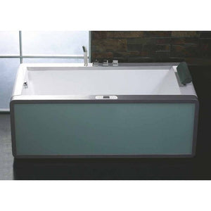 EAGO AM151ETL-L 6 ft Rectangular Acrylic Left Drain Whirlpool Bathtub - Jet Springs