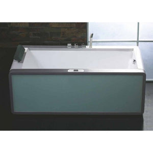EAGO AM151ETL-R 6 ft Rectangular Acrylic Right Drain Whirlpool Bathtub - Jet Springs