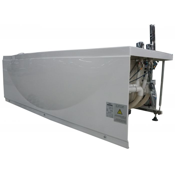 EAGO AM189ETL-R 6 ft Right Drain Acrylic White Whirlpool Bathtub w Fixtures - Jet Springs